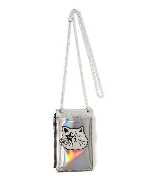 春夏新作モデル guriguri × Ray BEAMS / 別注 ネコ サイドジップ ミニバッグ, MAオリジンジュエリー 57db47be