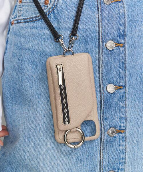 <AJEW>CADENAS ジップ ストラップ iPhone XR/11ケース