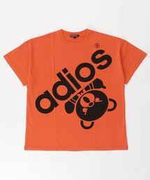 BIG ADIOS BEAR オーバーサイズTシャツ【L】オレンジ