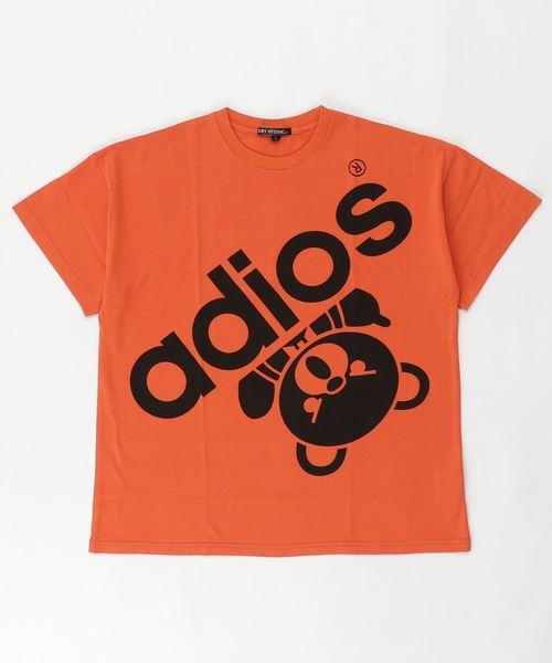 BIG ADIOS BEAR オーバーサイズTシャツ【L】