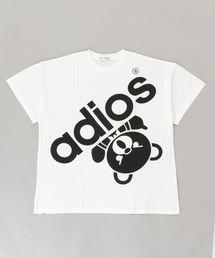 BIG ADIOS BEAR オーバーサイズTシャツ【L】アイボリー
