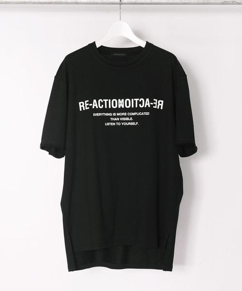 Wizzard ウィザード / GRAPHIC T-SHIRTS 'RE-ACTION' グラフィックプリントTシャツ ビッグシルエット / WGA21-002