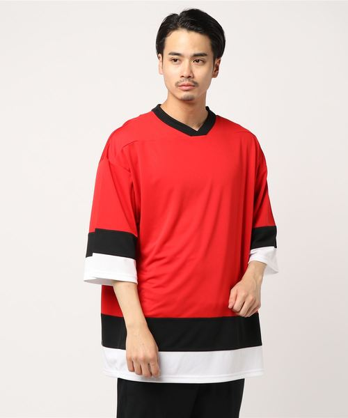 【ZOZOTOWN限定】UNITED ATHLE/ユナイテッドアスレ DRY HOCKEY TEE