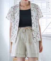 select MOCA(セレクトモカ)のフラワーオープンカラーシャツ(花柄半袖アロハシャツ)(シャツ/ブラウス)