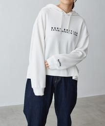 KANGOL/カンゴール Chaco closet別注 ロゴ刺繍 ワイドフードスウェットパーカーホワイト