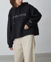 KANGOL/カンゴール Chaco closet別注 ロゴ刺繍 ワイドフードスウェットパーカーブラック