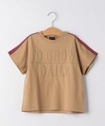 【キッズ】ソデライン ロゴプリント ビッグTシャツ