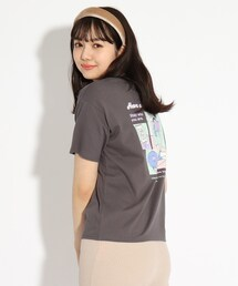 PINK-latte(ピンクラテ)の【オーガニックコットン100%】POPプリントTシャツ(Tシャツ/カットソー)
