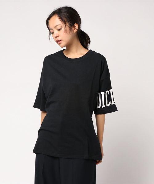 0a137a4c8ef41 Dickies(ディッキーズ)の「バック編み上げプリントTシャツ [ ルーズフィット ](