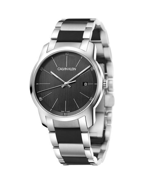 [カルバンクライン] CALVIN KLEIN 腕時計 City(シティ) 3針 シルバー×ブラック