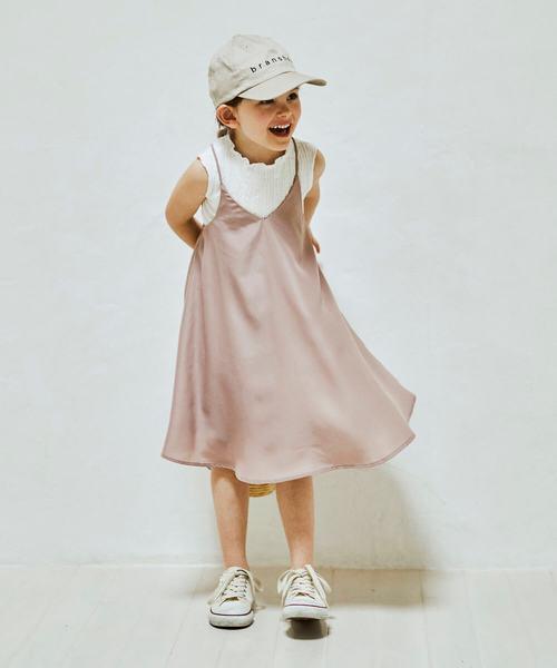 branshes(ブランシェス)の「スパゲッティストラップジャンパースカート(ジャンパースカート)」 ピンク