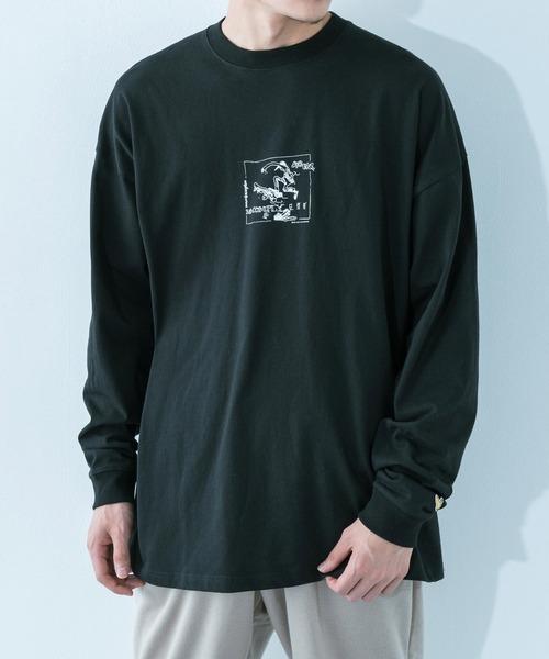 Mark Gonzales(マーク?ゴンザレス)の「Mark Gonzales/マークゴンザレス  No Comply バックプリント オーバーサイズロンT(Tシャツ/カットソー)」|ブラック