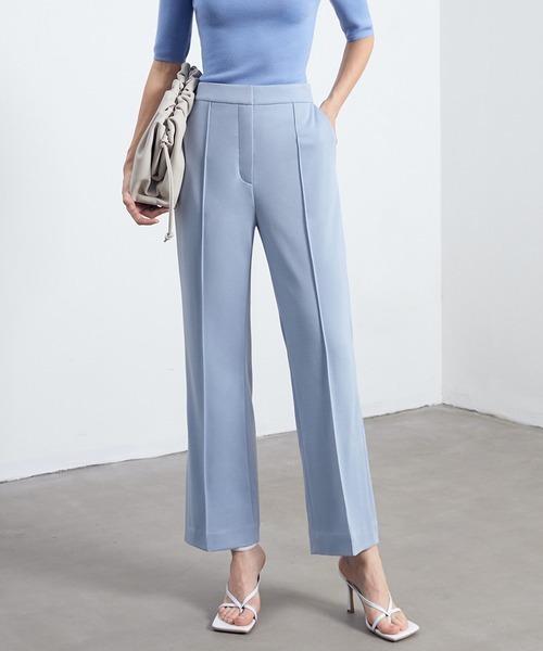 【chuclla】【2021/SS】Center crease slit pants chw1470