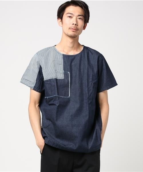 WAVEN(ウェイヴン)   パッチワークTシャツ
