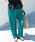 URBAN RESEARCH DOORS(アーバンリサーチドアーズ)の「サテンストレートパンツ(パンツ)」|ブルー