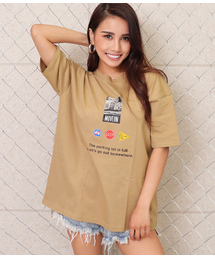 dd3bbfbdc4b25 ANAP(アナップ)の「フォトプリントビッグTシャツ(Tシャツ/カットソー