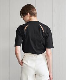 <H>COTTON BACK SLIT T-SHIRTS/Tシャツ