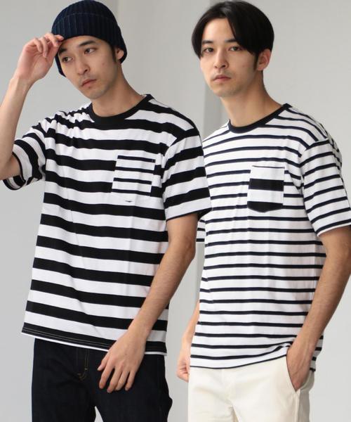 別注 [フルーツオブザルーム] SC FRUIT OF THE LOOM ボーダー Tシャツ 2枚組
