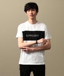 LOVELESS(ラブレス)の【LOVELESS】MEN スタッズロゴTシャツ(Tシャツ/カットソー)
