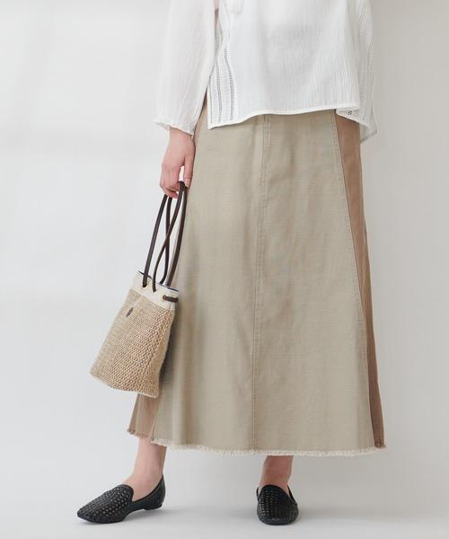 【THE CHIC】バイオウォッシュサイド切替スカート