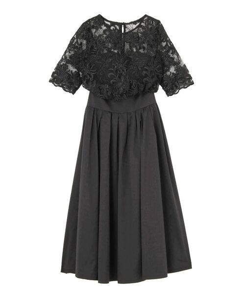 8449c59cf70c3 LAGUNAMOON(ラグナムーン)のLADYオーバーレースギャザードレス(ドレス)