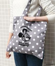 Disney(ディズニー)のミニーマウス/パターンフロッキートート(トートバッグ)