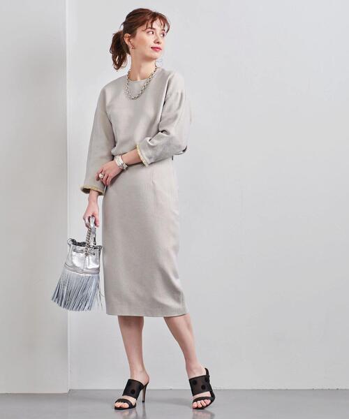 UBC カラー シャンブレー タイトスカート