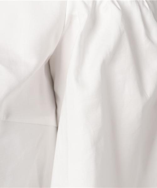 コットンダブルクロスオープンショルダーブラウス【セットアップ対応可】