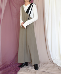 Eimee Law(エイミーロウ)の【Eimee Law】アシンメトリ—ショルダージャンパースカート(ジャンパースカート)