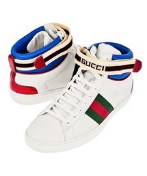 GUCCI ACE stripe high-top sneaker グッチ エース ストライプ 入トップ スニーカー 523472-0FIW0 メンズ(スニーカー)