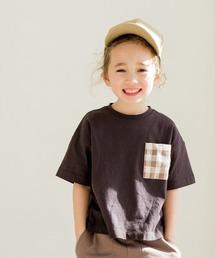 pairmanon(ペアマノン)の半袖 Tシャツ ポケット チェック ストライプ ドット ユニセックス(Tシャツ/カットソー)