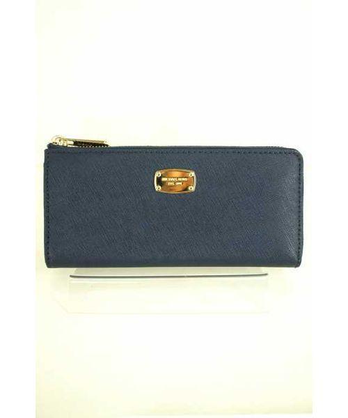 f32800b556af MICHAEL KORS(マイケルコース)の古着「ロゴプレート ラウンドジップ 長財布(