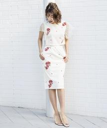 MILLION CARATS(ミリオンカラッツ)の花刺繍カットソーセットアップ(ワンピース)