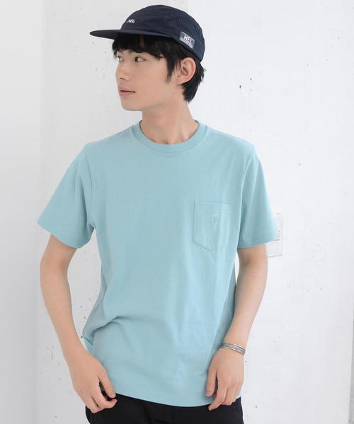 USAコットンペールカラークルーネックTシャツ