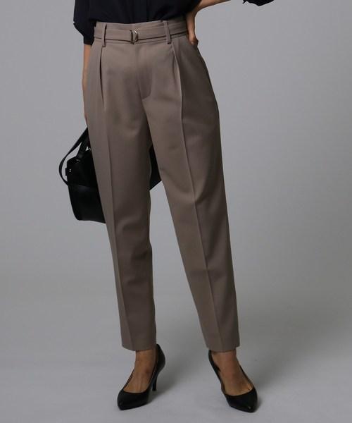 人気ブランドを タックテーパードパンツ(パンツ) UNTITLED(アンタイトル)のファッション通販, カミウラマチ:b79c43f4 --- kindergarten-meggen.de
