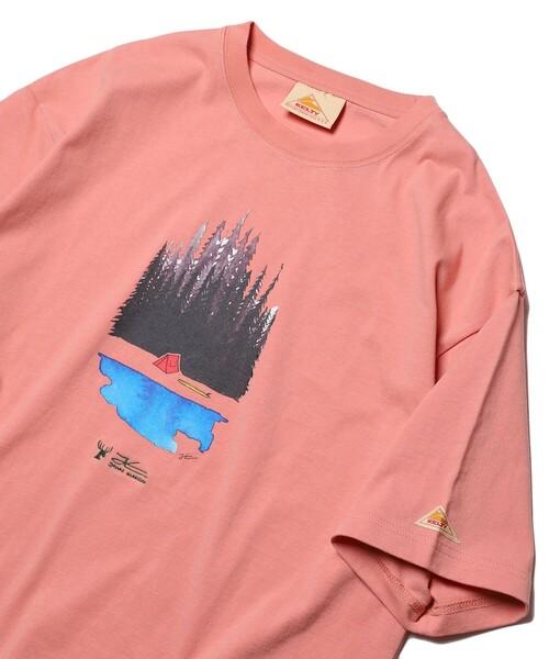 WEB限定 KELTY×FREAK'S STORE/ケルティ 別注 JONAS forest クルーネックプリントTシャツ/ビッグシルエット