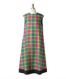 Drawer別注〈Scye(サイ)〉CHECKED DRESS