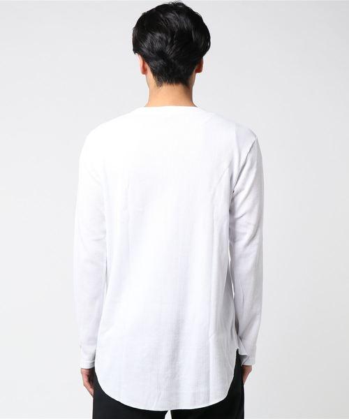 ロング丈ワッフルTシャツ