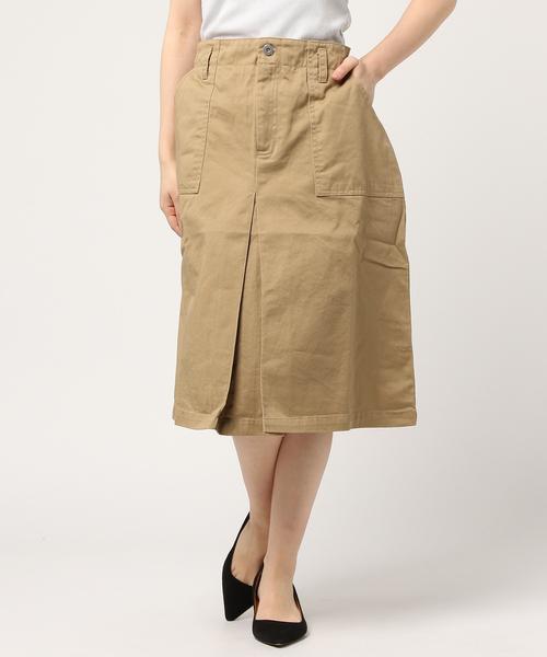 Lilou&Lillyベイカースカート/ツイル素材コットンスカート