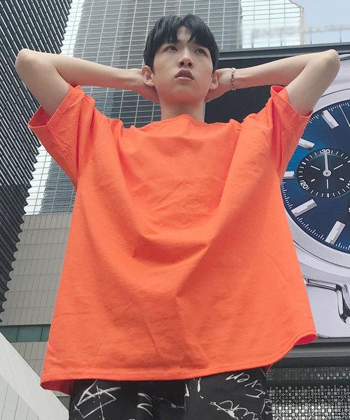 【BASQUE -enthusiastic design-】Champion Authentic T-SHIRTS/ チャンピオン ビッグシルエット コットン Tシャツ 半袖