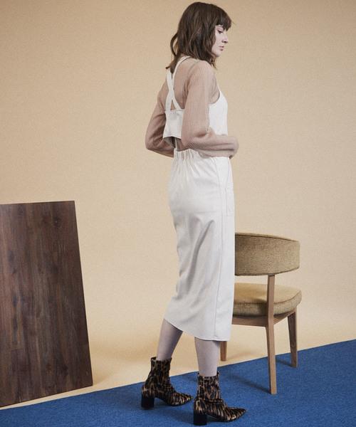 低価格 フェイクレザーサロペットスカート【MAISON SPECIAL/メゾンスペシャル】, イーストビューティ b570226e
