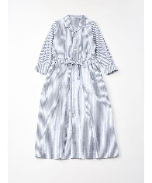 薄オックスのドレス(インディゴ)