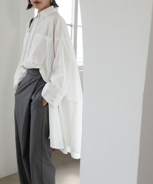 【chuclla】【2021/SS】Flared-silhouette volume shirt chwt6