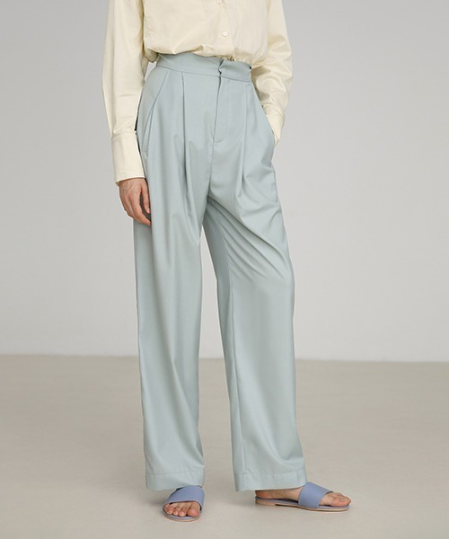 【UNSPOKEN】Mint green slacks pants FAZ19299chw