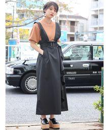 MURUA(ムルーア)の2WAYラッフルジャンパースカート(ジャンパースカート)