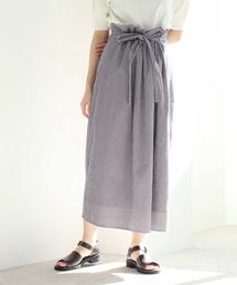 yuni(ユニ )のサッカーチェック ドローストリングスカート(スカート)