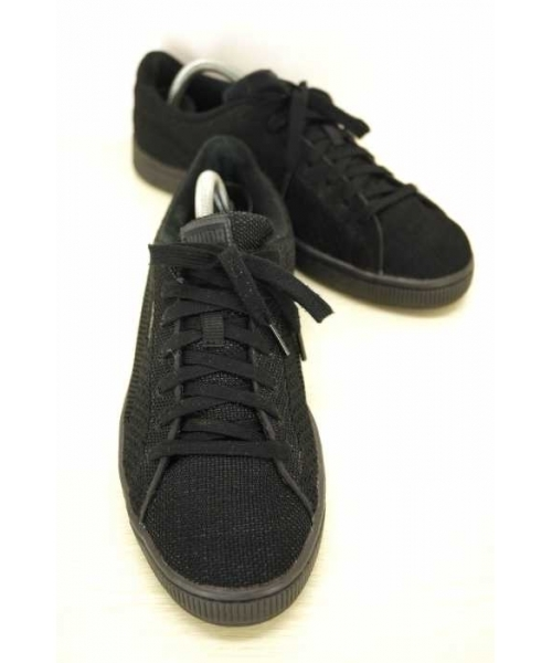 puma basket knit mesh