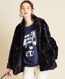 BY∴ フェイクファーミドル丈コート ◆