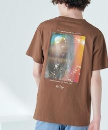 別注プリントART 半袖 Tシャツ/ビッグシルエット アートプリントカットソー/グラフィック カットソー/GIRL WITH A PEARL EARING/VINCENT WILLEM VAN GOGH/THE LAST SUPPERブラウン系その他