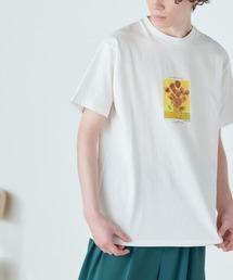 別注プリントART 半袖 Tシャツ/ビッグシルエット アートプリントカットソー/グラフィック カットソー/GIRL WITH A PEARL EARING/VINCENT WILLEM VAN GOGH/THE LAST SUPPERホワイト系その他4
